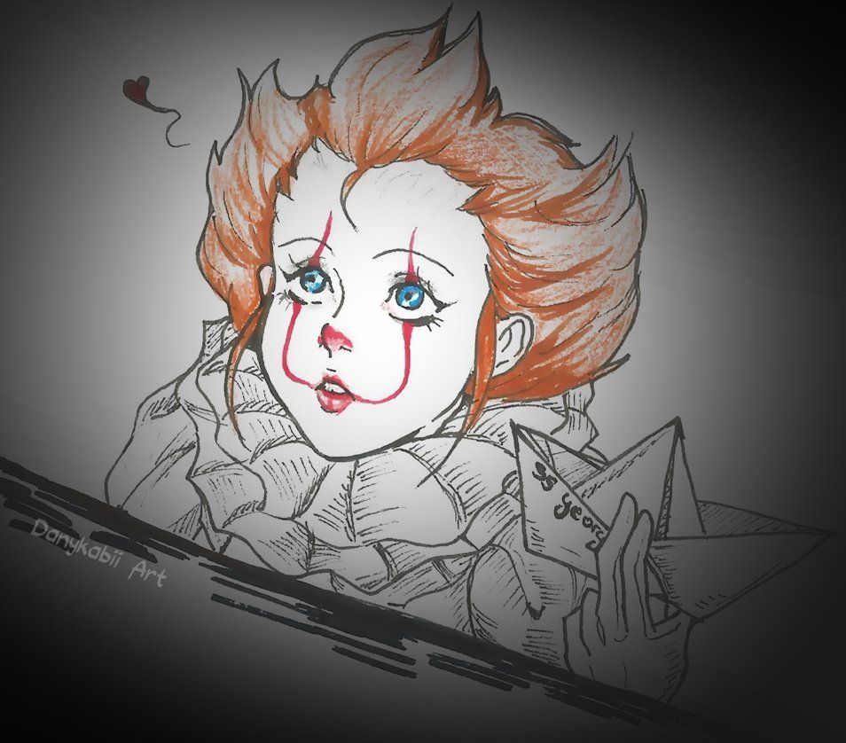 Pennywise Girl Pennywise The Dancing Clown Scary Drawings