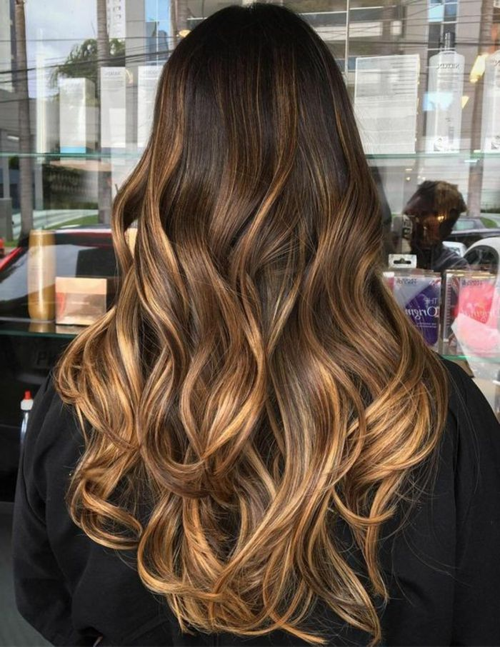 balayage caramel hair en 2019 haarfarbe braun haar. Black Bedroom Furniture Sets. Home Design Ideas