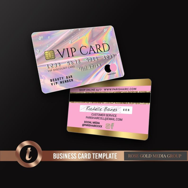 Credit Card Styled Discount Card , Holographic Business