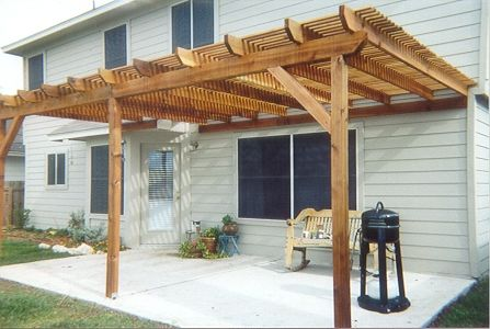 Shade Arbor Installed Over Existing Concrete Patio.