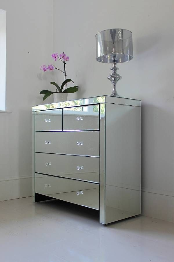 Large Mirrored Chest Of Drawers Mirrored Bedroom Furniture