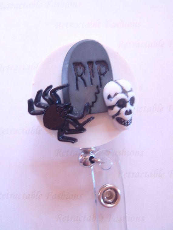 RIP Halloween Retractable Badge Holder by RetractableFashions, $6.99