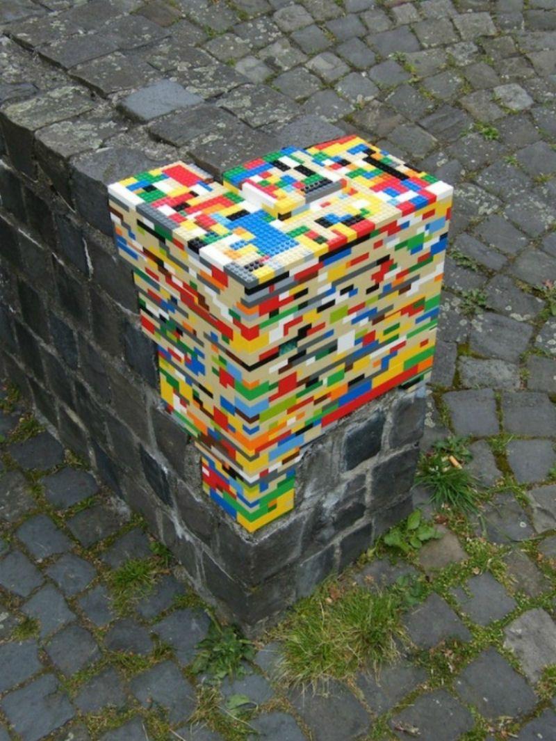 Street art. lego