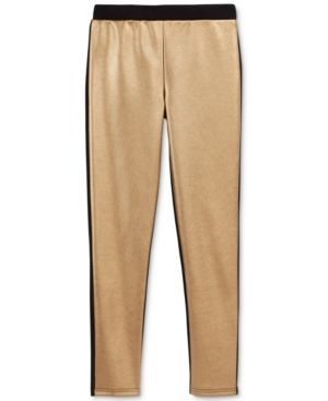 fcb0edca4082b Epic Threads Faux-Leather Ponte Pants, Little Girls (2-6X) & Big Girls  (7-16), Only at Macy's - Gold M