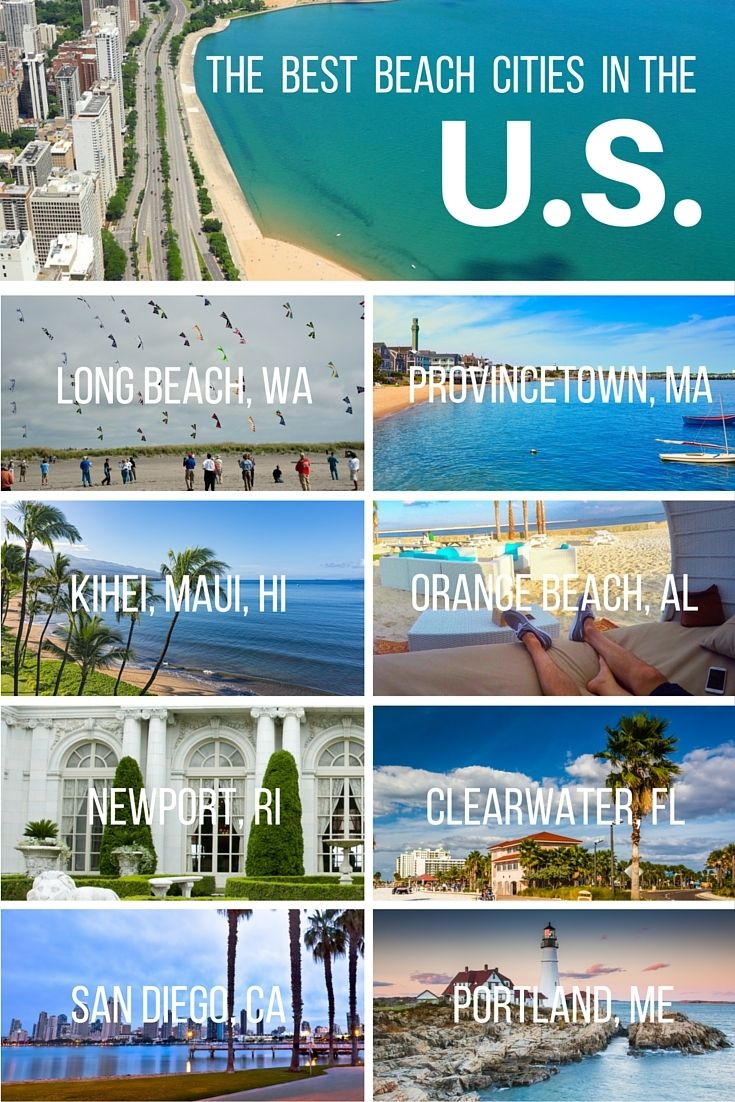 10 Best Beach Cities In America Ranked Vacations In The Us City Vacation Beach