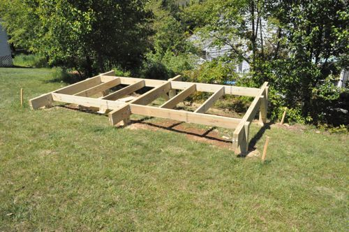How To Build A Post Beam Shed Foundation On A Slope Building A Shed Concrete Sheds Post And Beam