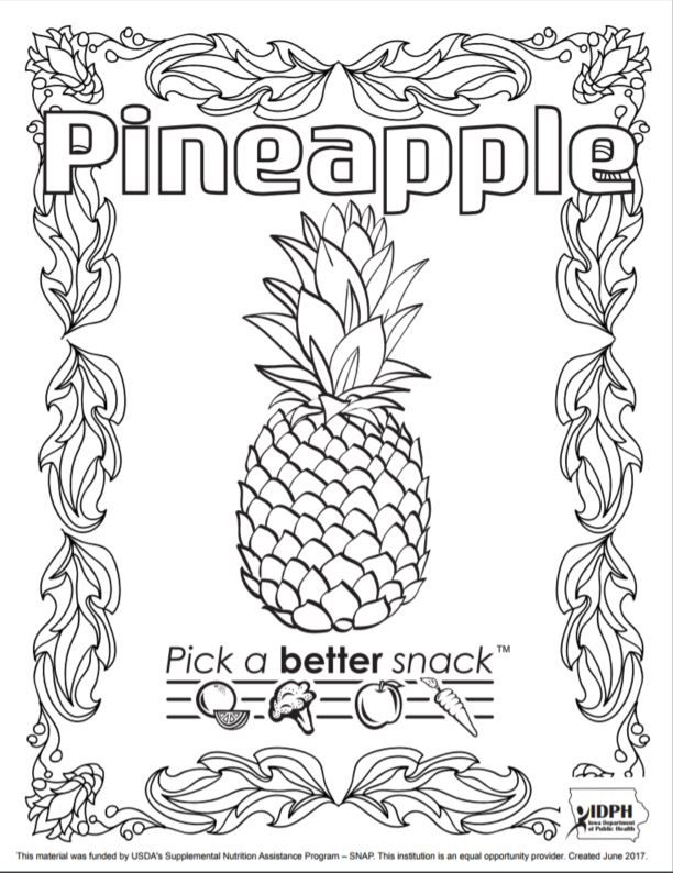 Pick a better snack coloring pages - Iowa Dept of Public Health ...