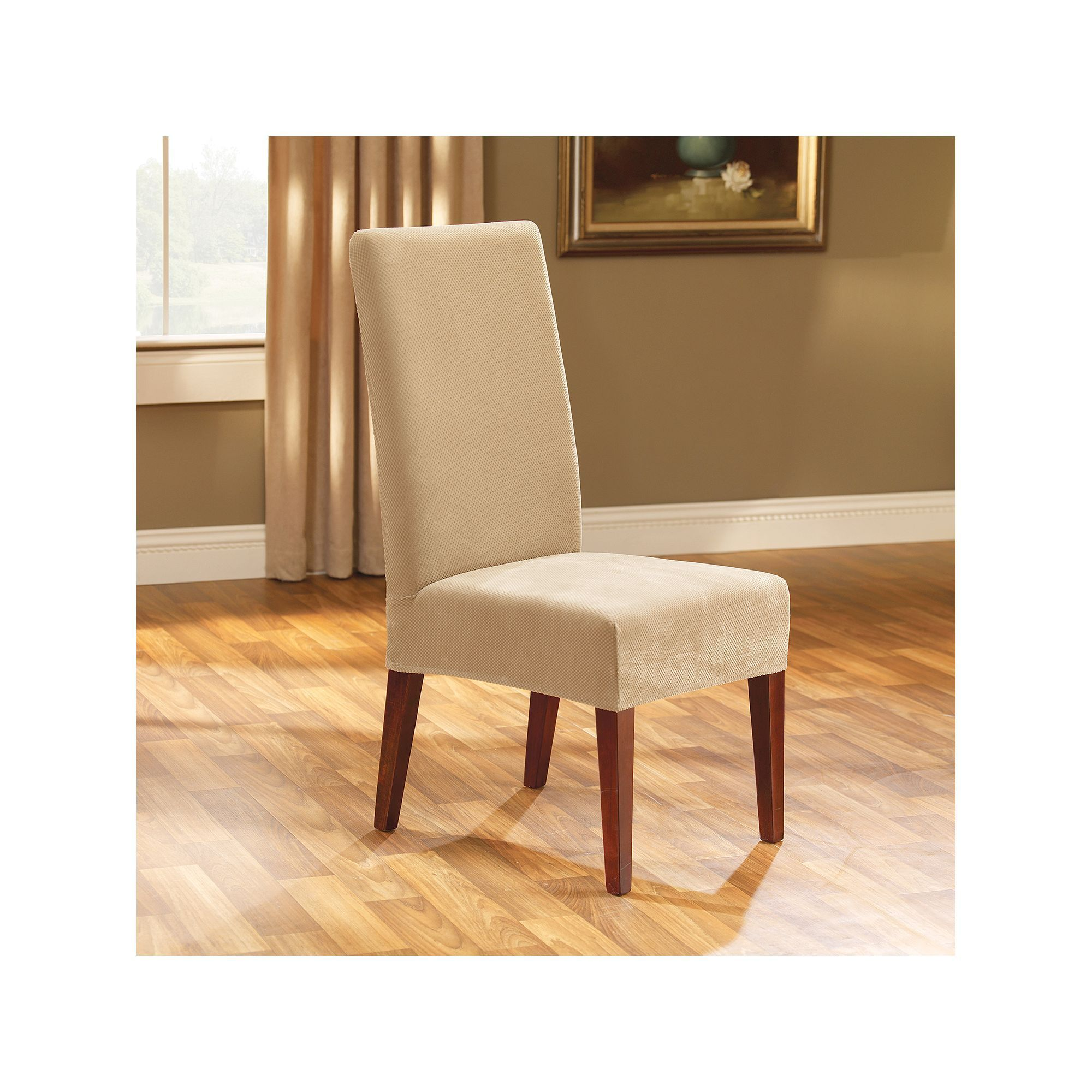 Sure Fit™ Pique Dining Chair Slipcover Slipcovers for