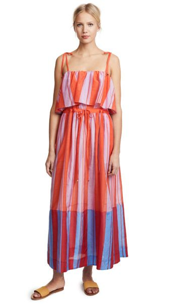 b73effb198fe5 Sleeveless Pleated Maxi Dress in 2019 | LUX Woman | Pleated maxi ...