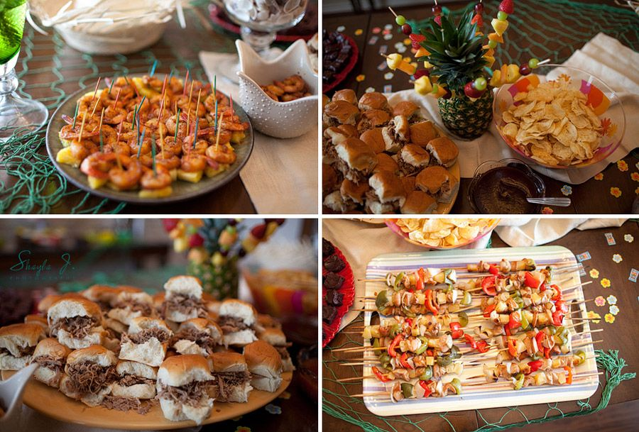 fte and festive events hawaiian luau bridalshowerfood shaylajphotography luau bridal shower