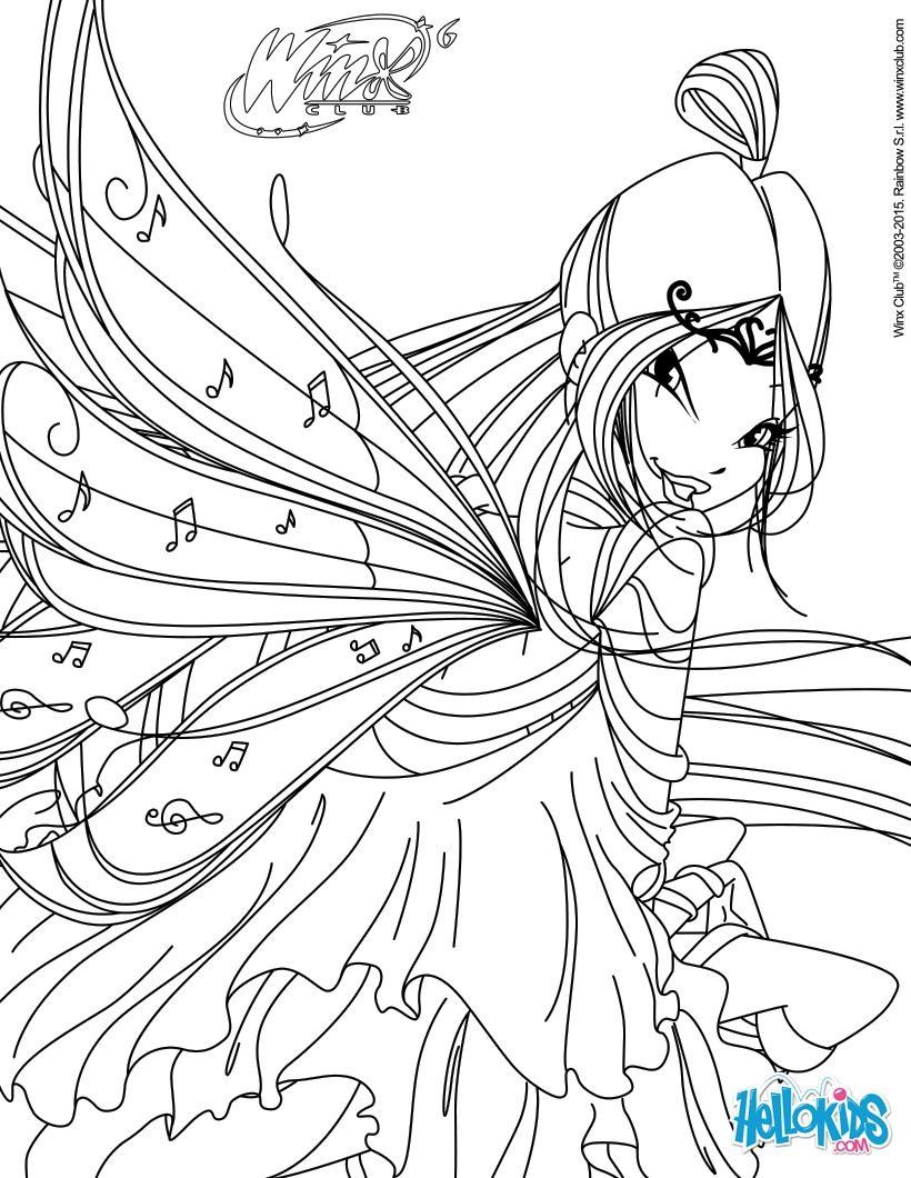 Musa Transformation Bloomix Coloring Page Desenhos Para Colorir
