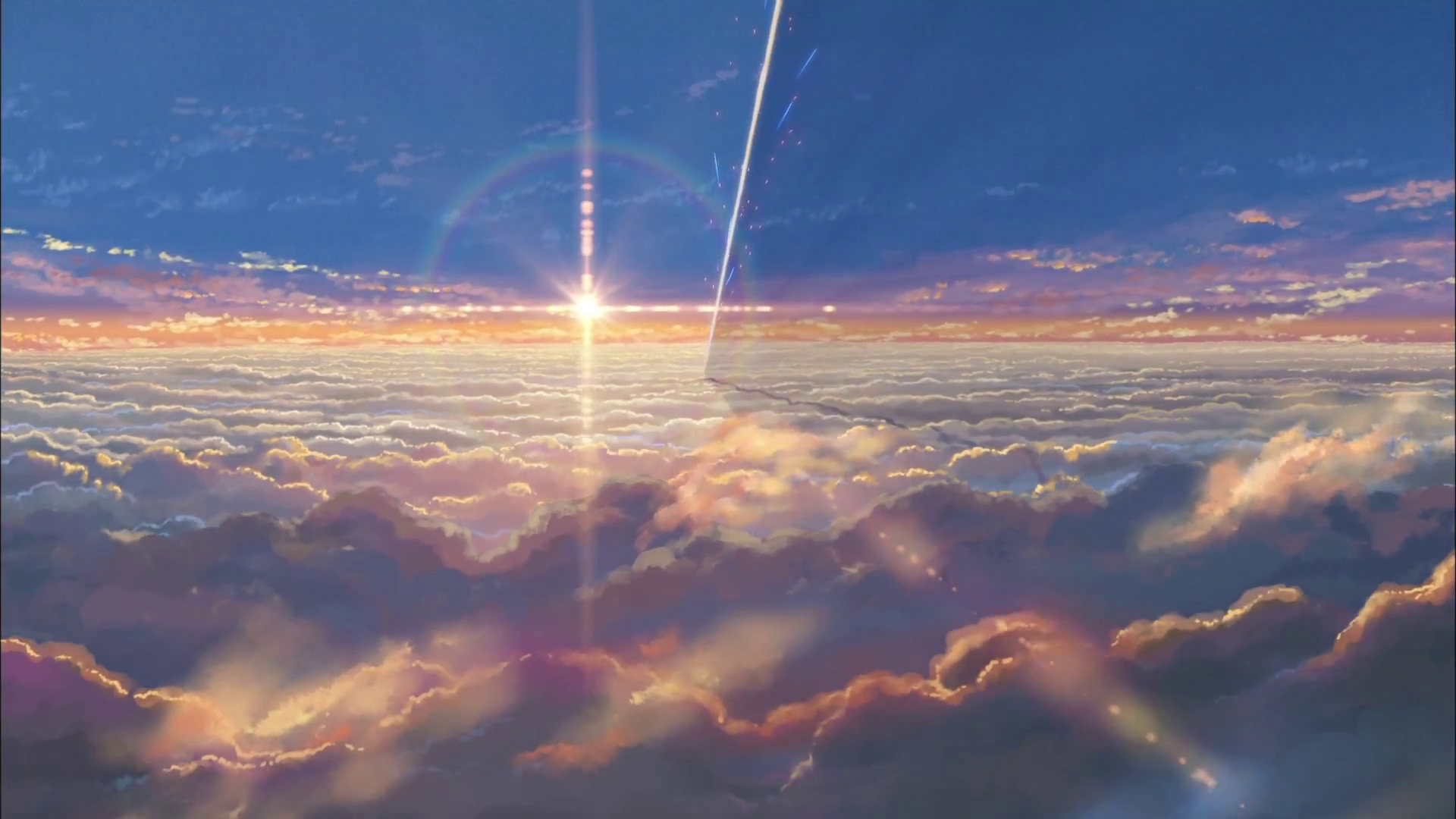Makoto Shinkai Kimi No Na Wa Your Name Screencaps In 2020