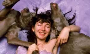 """lovely picture of kate for """"The hounds of love"""" Bonnie and Clyde are the handsome models beside her :)"""