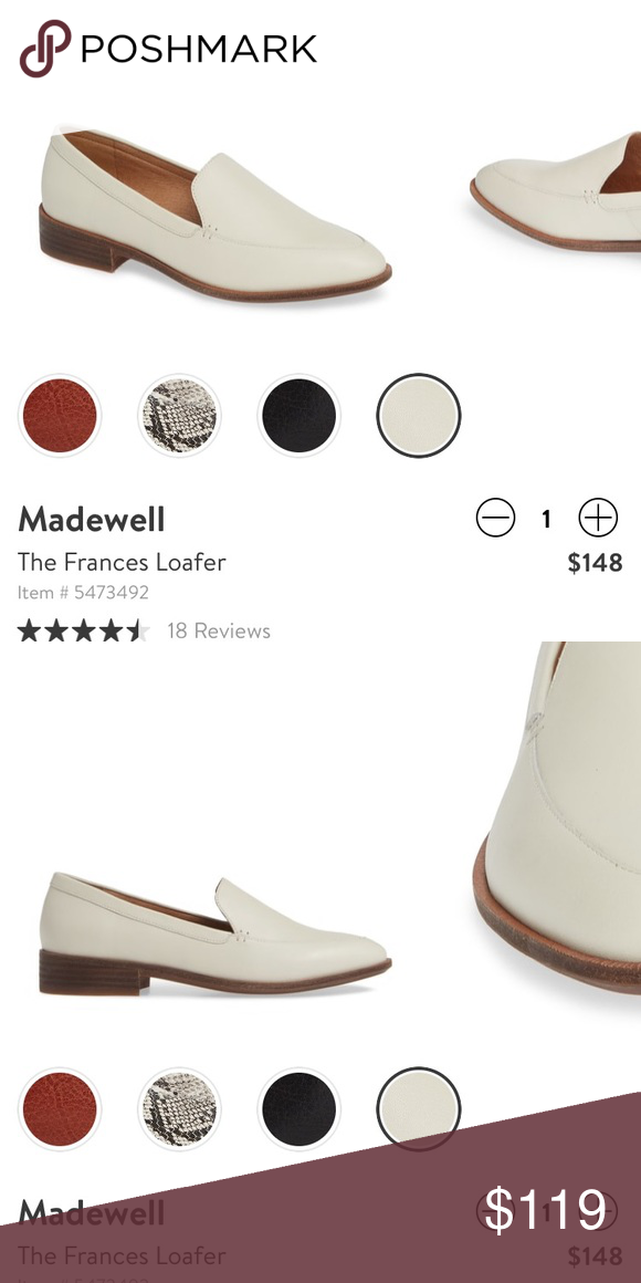 3550ec911d2 Madewell Frances loafer Worn ONCE for a few hours to dinner. Color is not  for me. Excellent condition. Cushioned insole snd great quality shoe.
