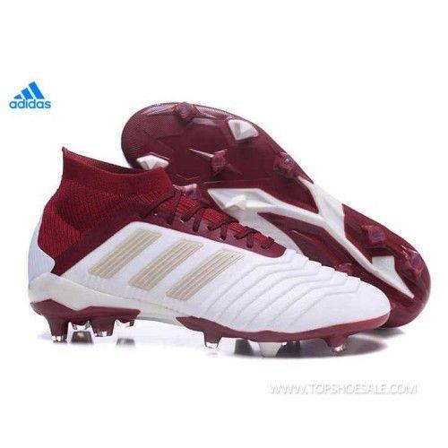 406615fc05fe5 2018 FIFA World Cup adidas Predator 18.1 FG DB2509 Vapour Grey  Metallic/Maroon Football shoes