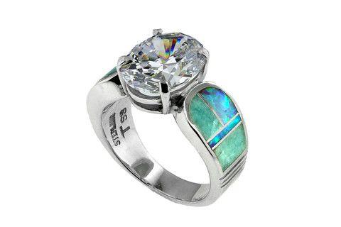Native American Jewelry - Amazing Light Inlay Ring – Stagecoach