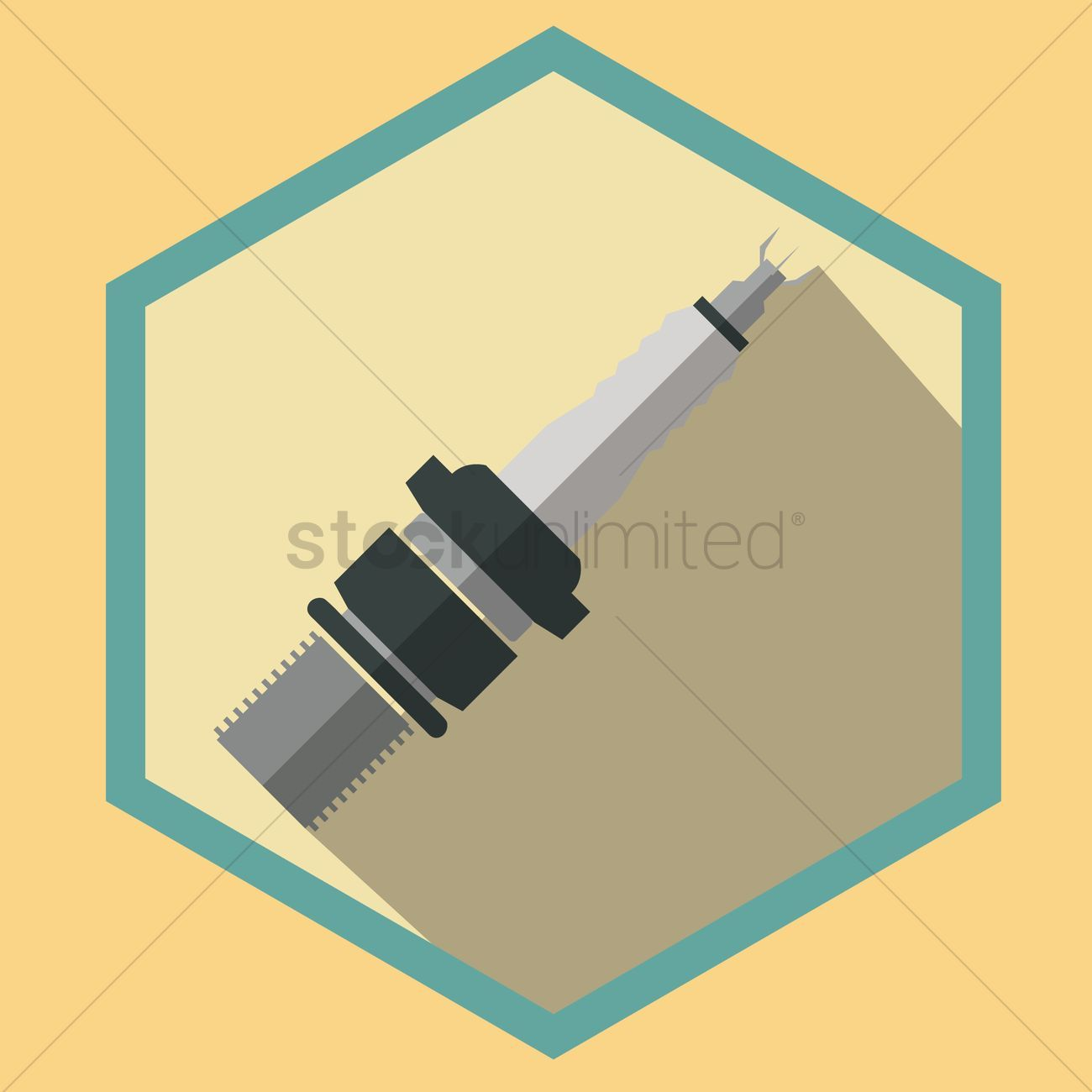 Spark plug vectors stock clipart