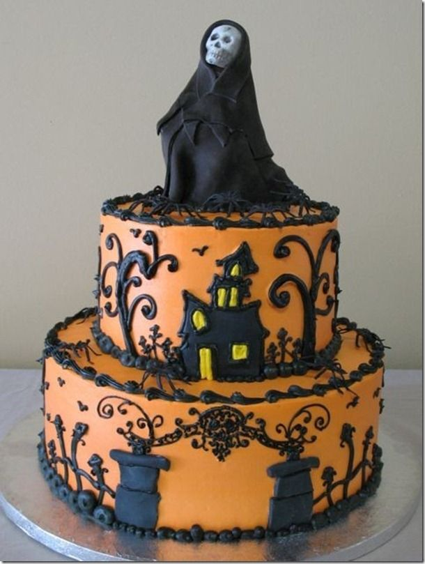 Love the cake with a different topper though;) ShindigThe Cakery - halloween cake decorations