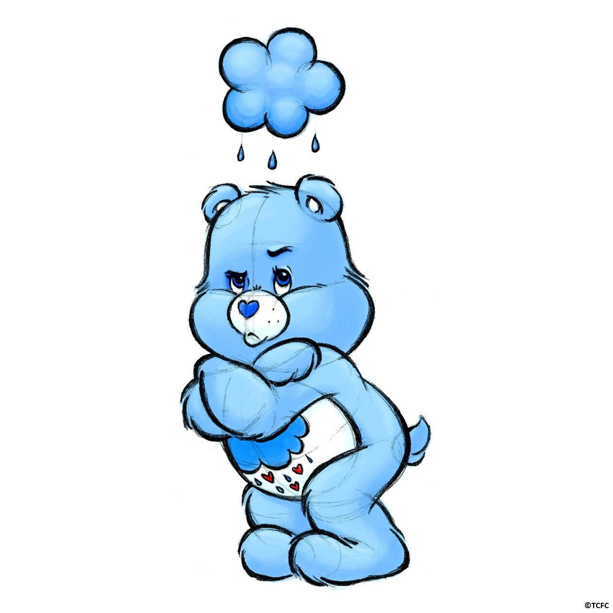 How To Draw Grumpy Bear Cute Bear Drawings Grumpy Care Bear Bear Paintings