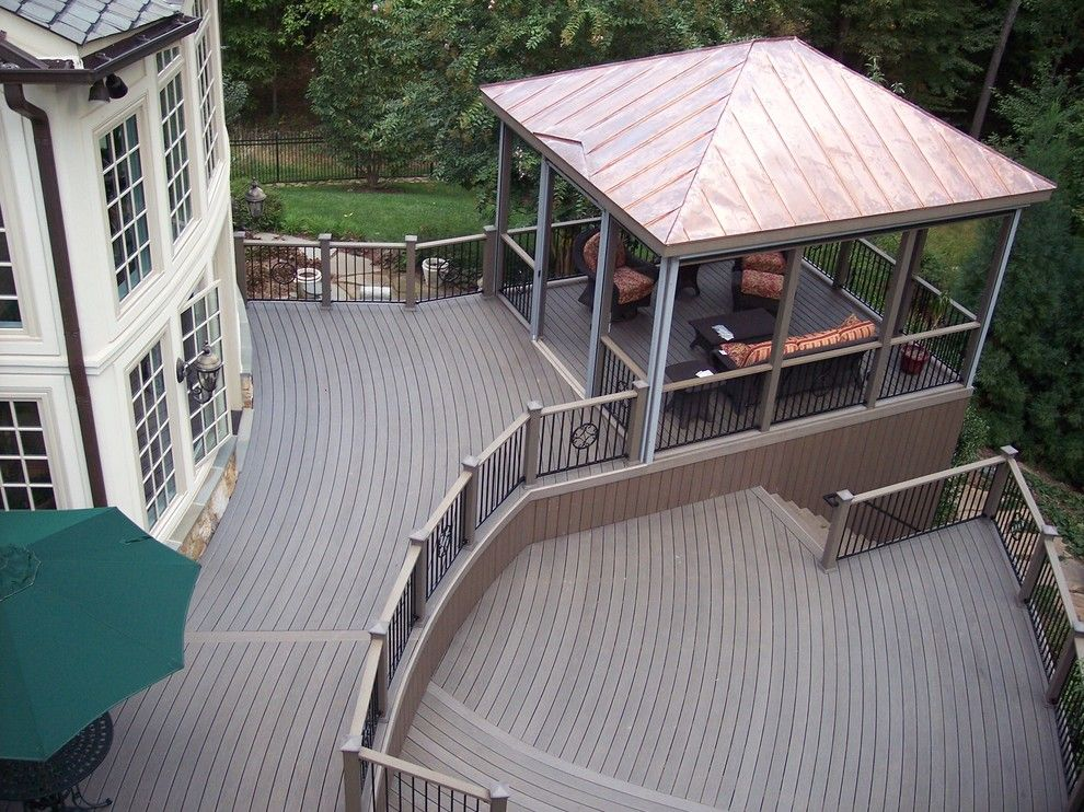 Awesome Superb Screened In Gazebo Traditional Deck With Wood Deck Next To Wooden  Deck Alongside With Copper