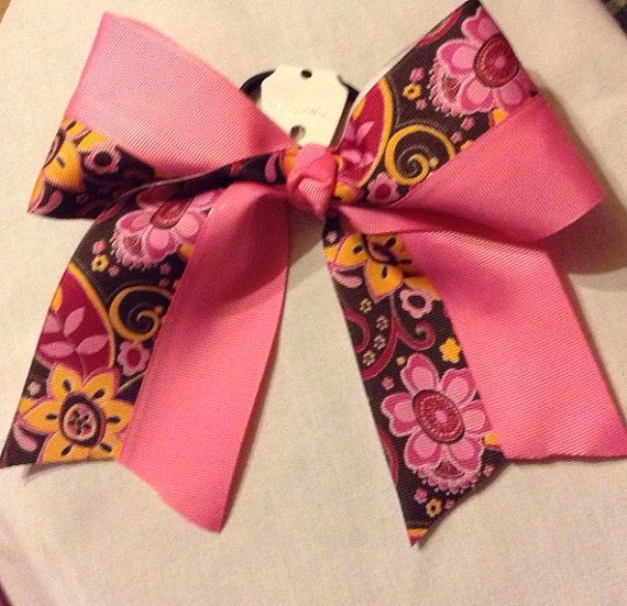 stinkncute pinknperfect cheer bow by snkmb on Etsy, $7.99