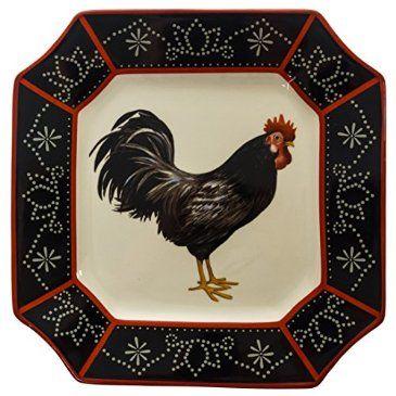 Stoneware Right Facing Black Rooster Dinner Plate Http Shop Crackerbarrel Com Stoneware Right Facing Black Rooster Dinner Dp Black Rooster Rooster Stoneware