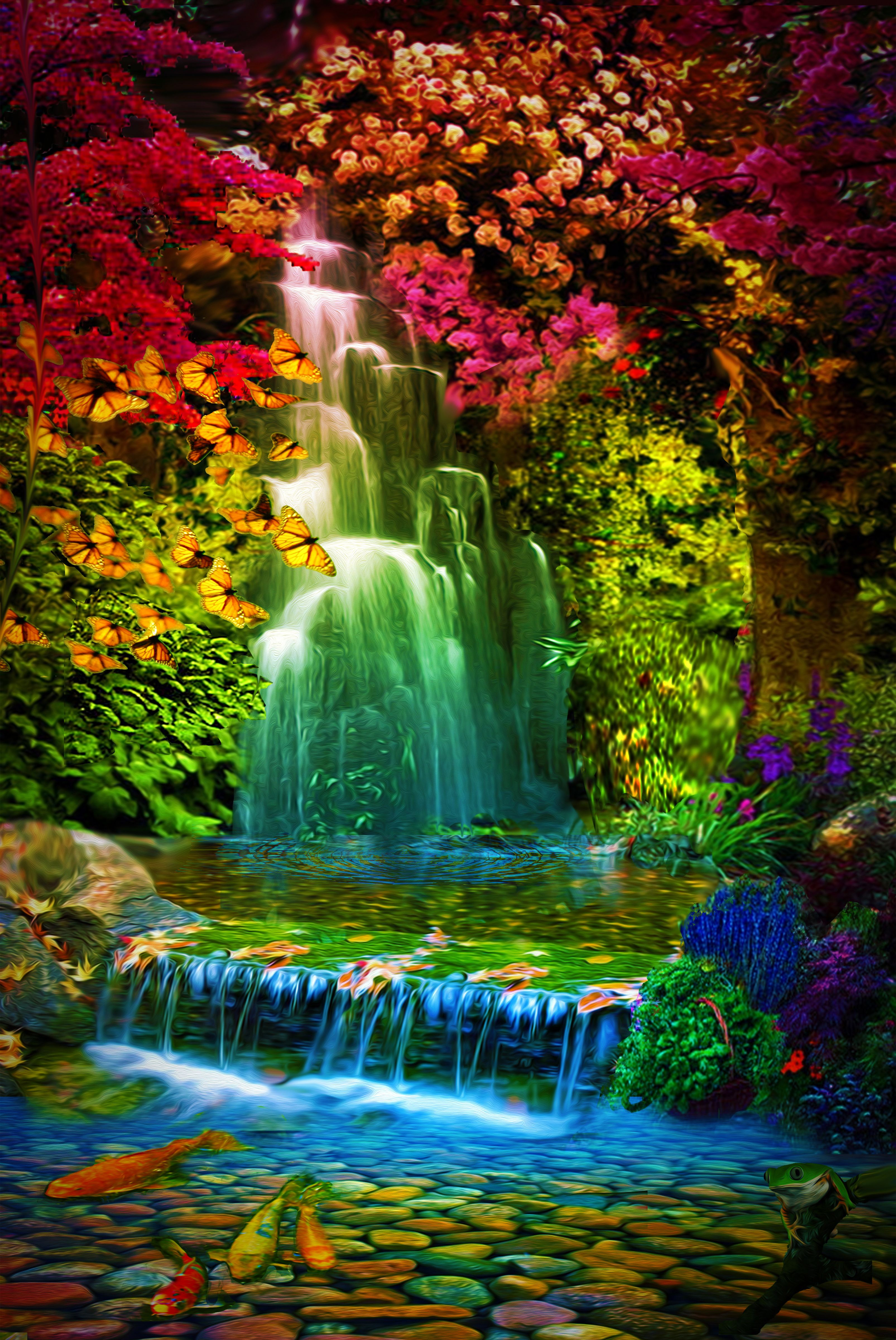 Water Garden Beautiful Nature Wallpaper Beautiful Places Nature Beautiful Landscapes