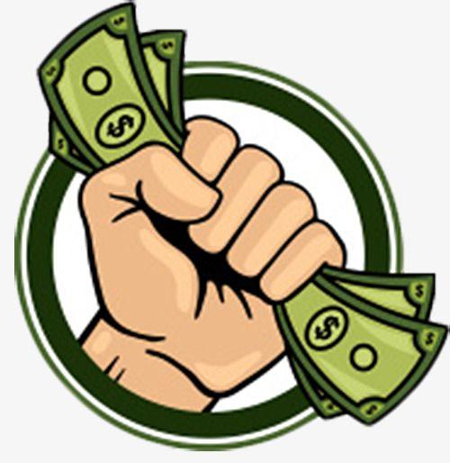 Hand Holding The Circular Sign Of Money Money Clipart Saving Money Money Icons