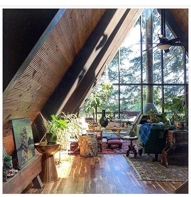 Cozyhouse Ideas: A Frame Interior Living Room Design