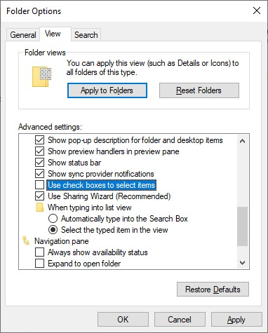 How To Remove Checkbox Icons From Windows 10? [SOLVED