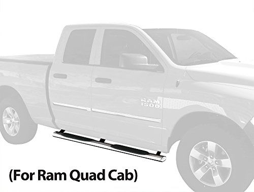 Dodge Ram 1500 Wb2d41147 Custom Fit 20092017 Quad Cab Extended Cab Not Crew Cab 4 Inch Oval Stainless Steel Side S Automotive Deals Extended Cab Dodge Ram 1500
