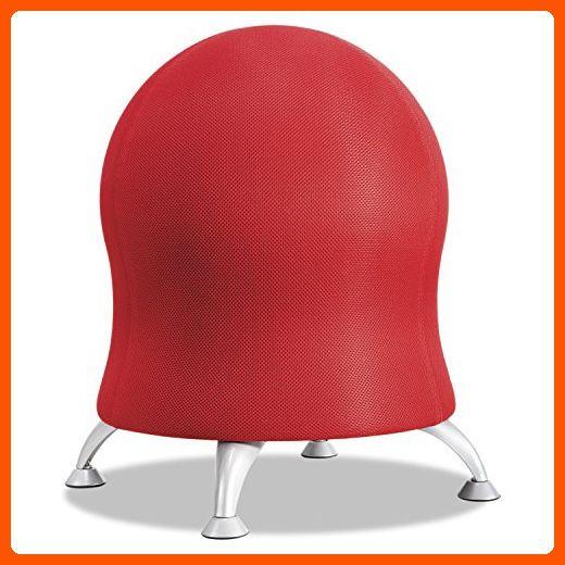 safco products 4750ci zenergy ball chair crimson fun stuff and