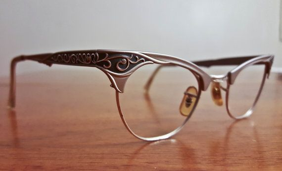 Vintage Silver and Grey 12K Gold Filled Filigree by vitrisoptique