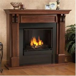 The Sexton Ventless Gel Indoor Fireplace Mahogany Electric Fireplace Fireplace Heater Gel Fireplace