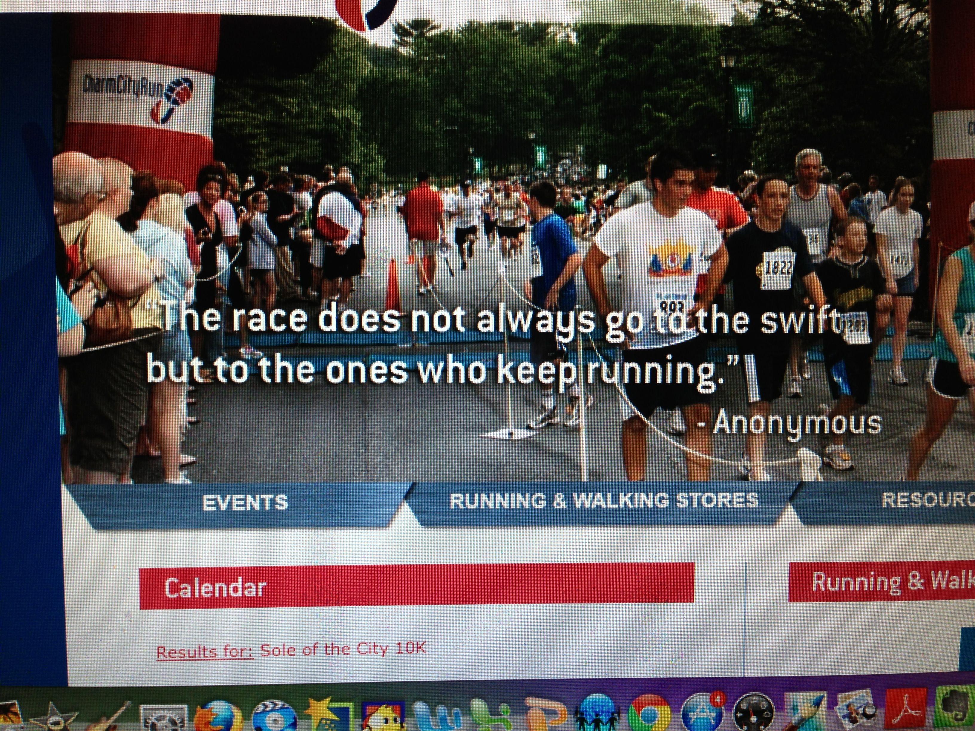 Just keep running!