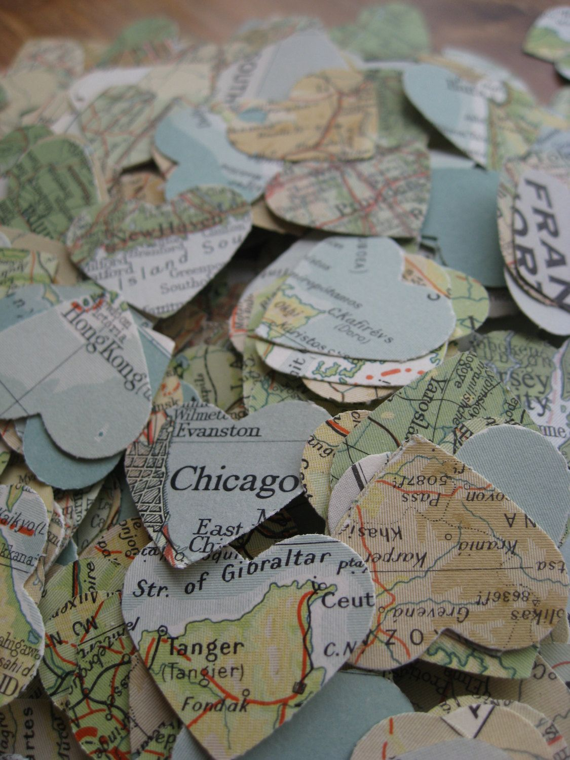1000 vintage map confetti teal ivory ochre beige green world 1000 vintage map confetti teal ivory ochre beige green world map or choose your map heart shaped custom orders welcome by treetownpaper on etsy gumiabroncs Images