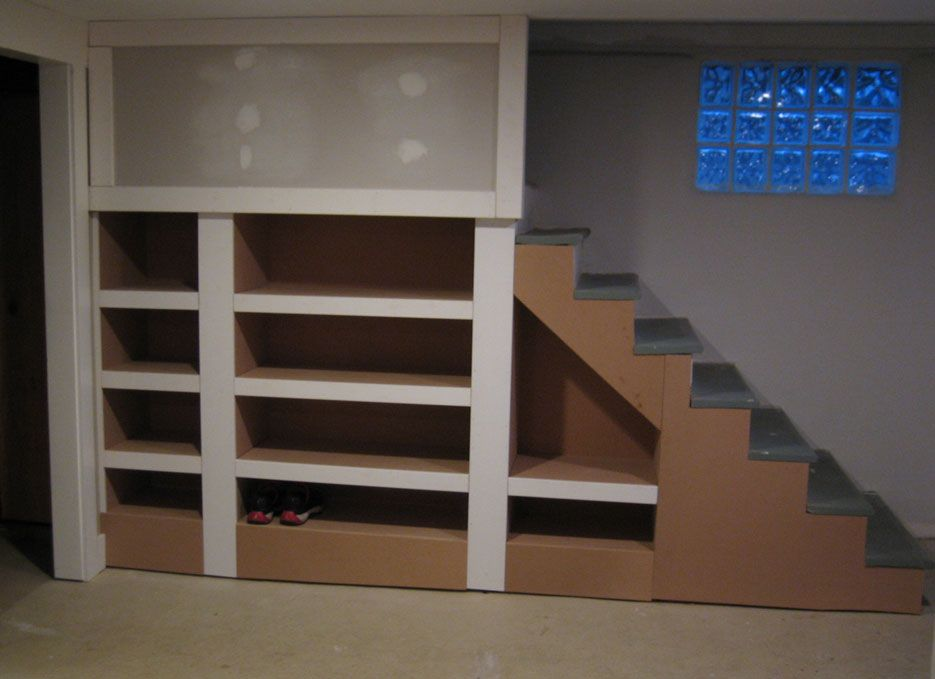 Basement Stairs Storage built ins under stairs … | pinteres…