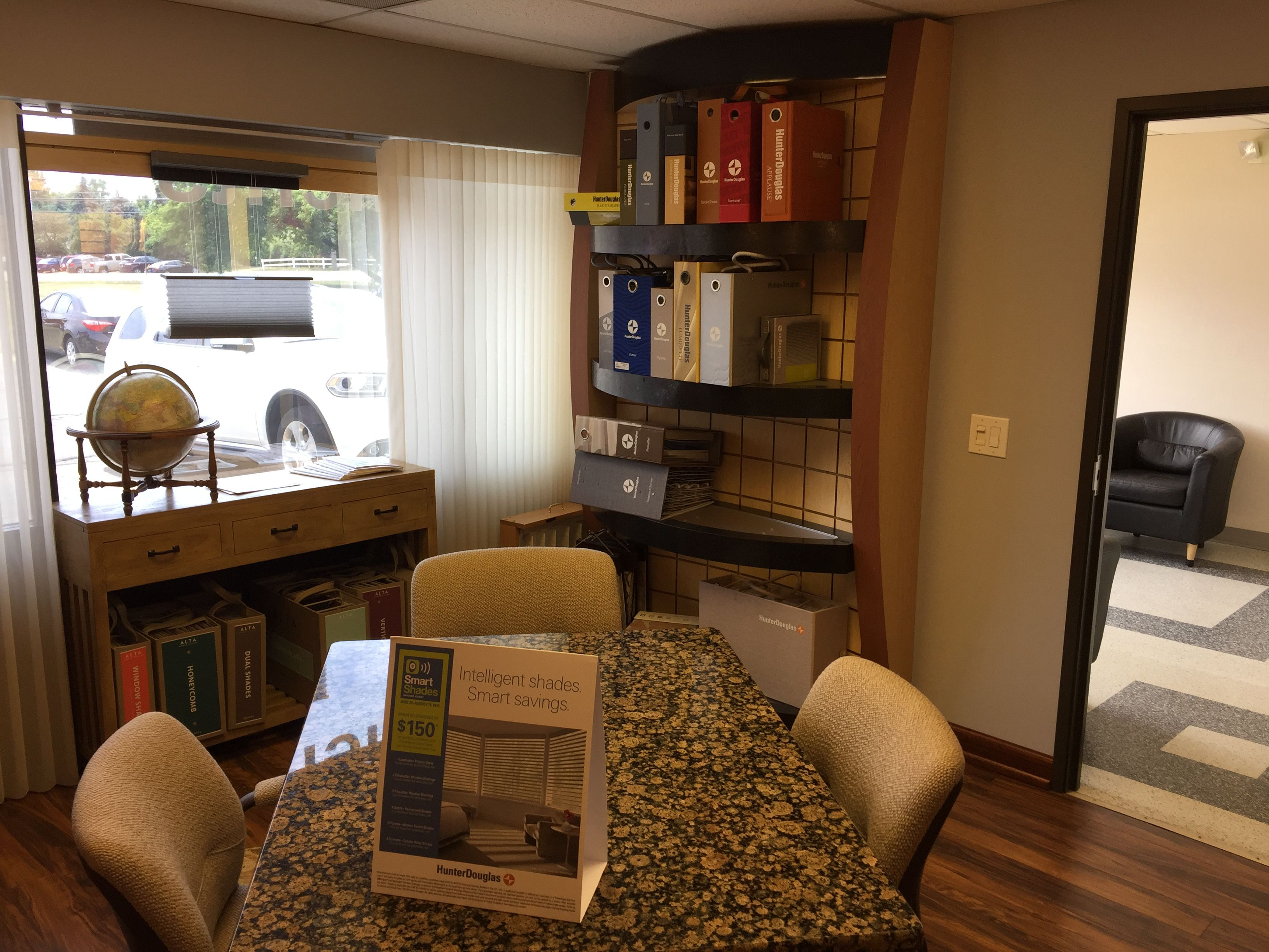 Check Out All The New Products In Our Beautiful Newly Renovated Showroom!  Free In Home Design Consultation. Call 800.470.9059 #windowtreatments ...