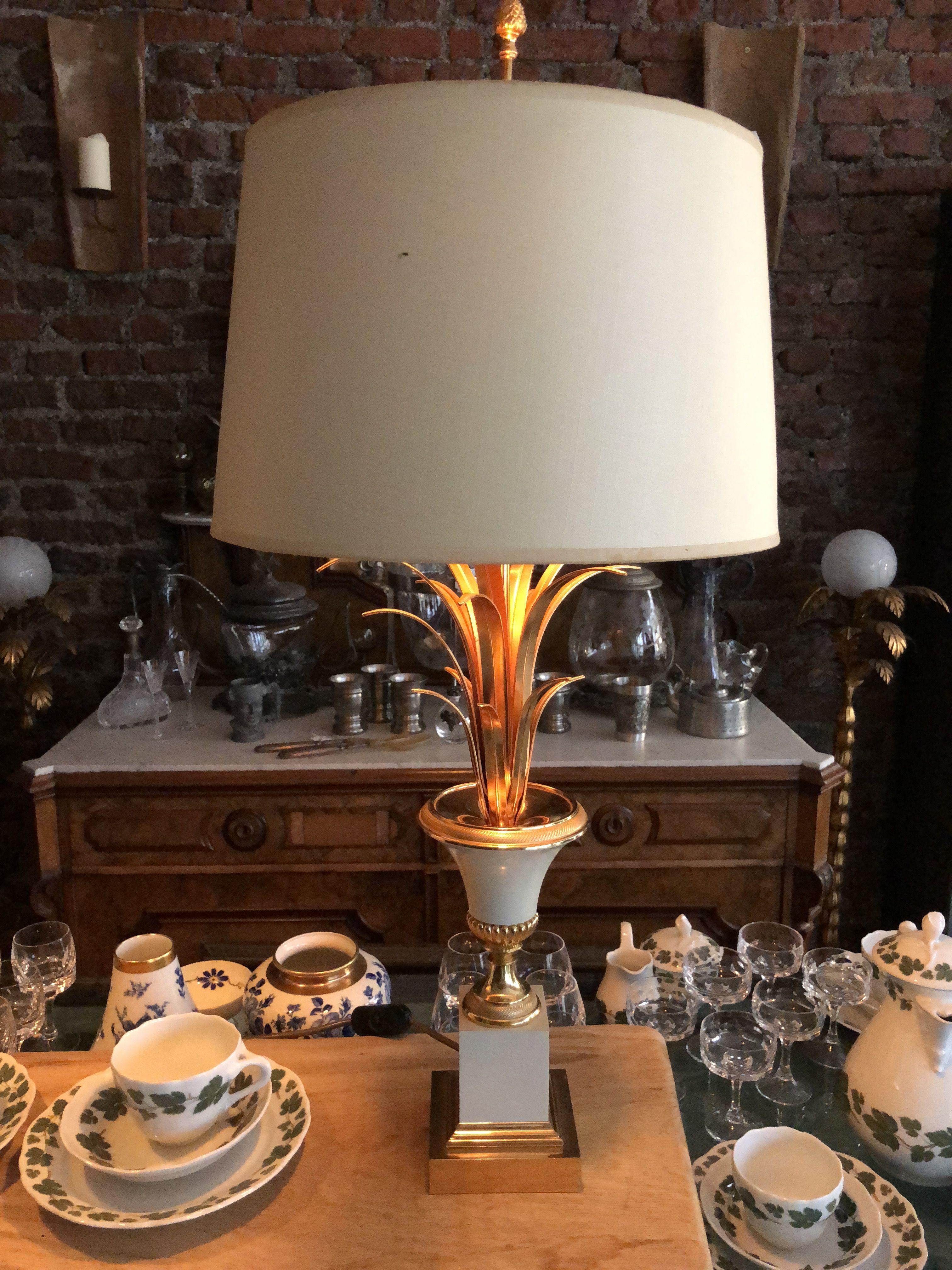 Antike Pineapple Ananas Lampe Maison Charles Antike Historische