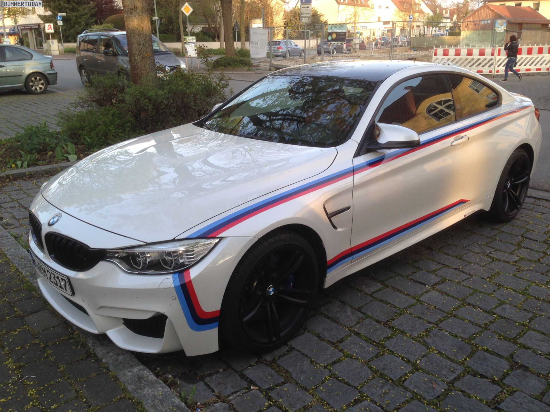 Bmw M4 Coupe With M Stripes Spotted Bmw M4 Coupé Bmw M4 Dream Cars Bmw