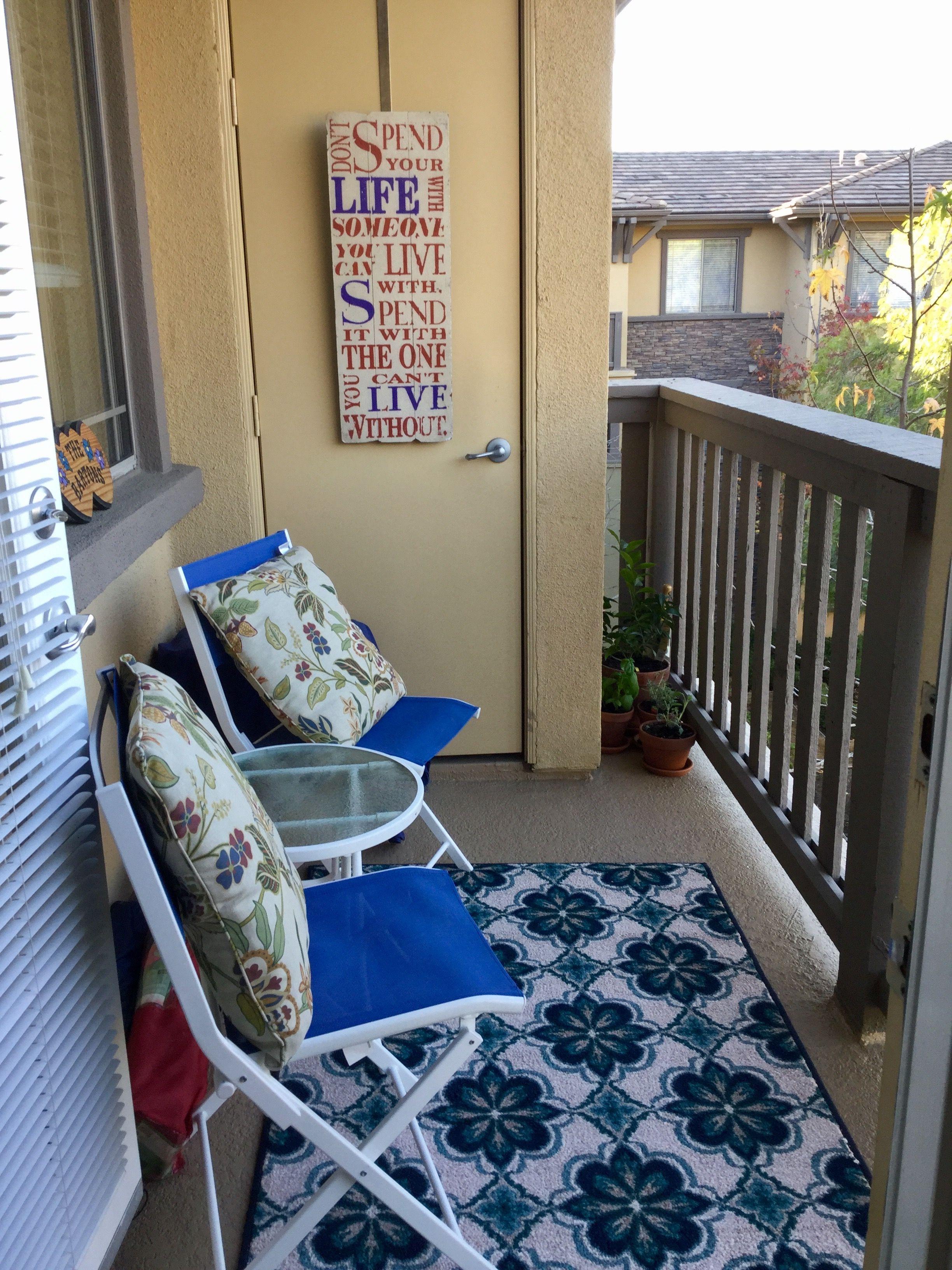 Small balcony diy                                                                                                                                                                                 More