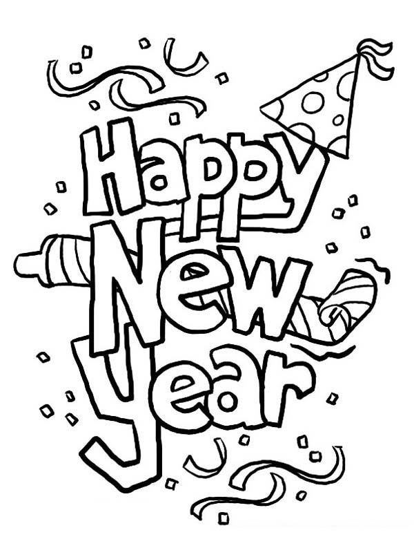 Happy New Year Coloring Sheets Pages To Download And Print For Free
