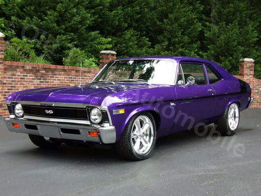 1969 Purple Nova Chevy Nova Classic Cars Trucks Hot Rods