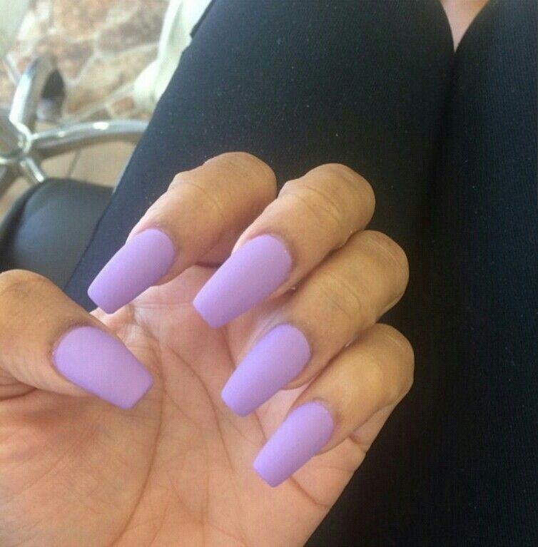 Lavender Matte Nails Lavender Nails Matte Purple Nails Purple Nails