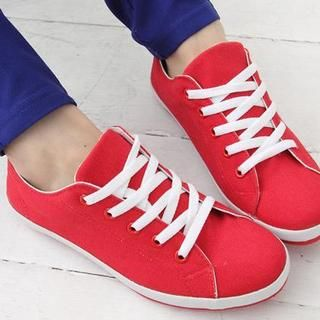Buy 'Maymaylu Dreams – Lace-Up Canvas Sneakers' with Free International Shipping at YesStyle.com. Browse and shop for thousands of Asian fashion items from Taiwan and more!