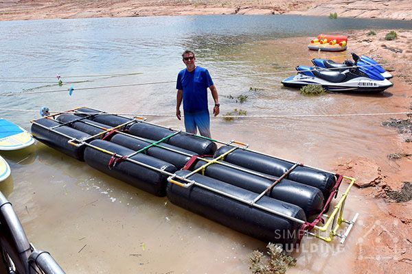 DIY Portable Floating Dock #KeeKlamp #DIY #dock ...