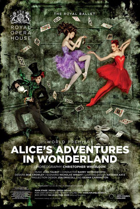 Alice S Adventures In Wonderland Royal Ballet Poster 011