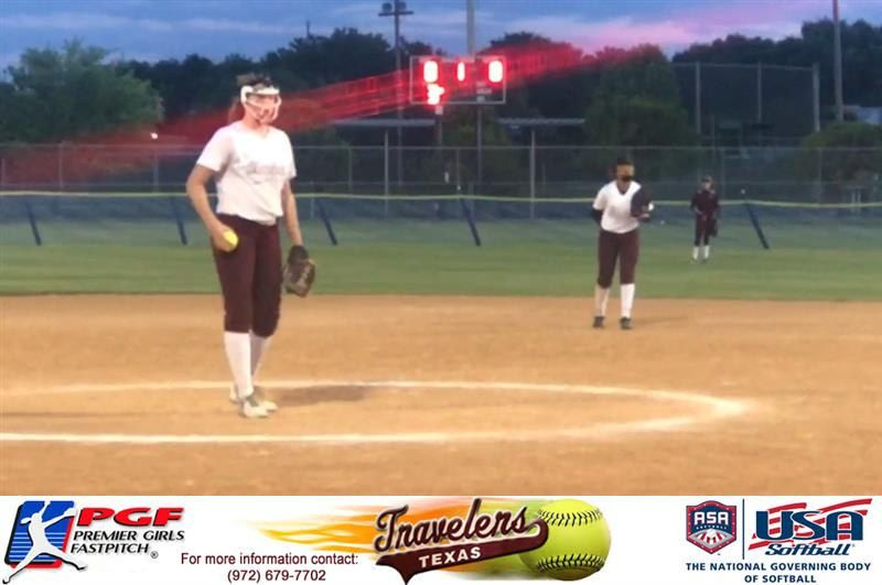 Texas Travelers Gold Pitcher Dominates The Mound During The Asa Texas Challenge Series Elizabeth Schaefer Recorded 12 Innings Facing 44 Batters Giving Up Only Texas Asa Challenges