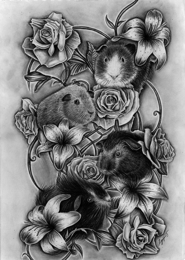 Guinea Pig TATTOO by Yankeestyle94