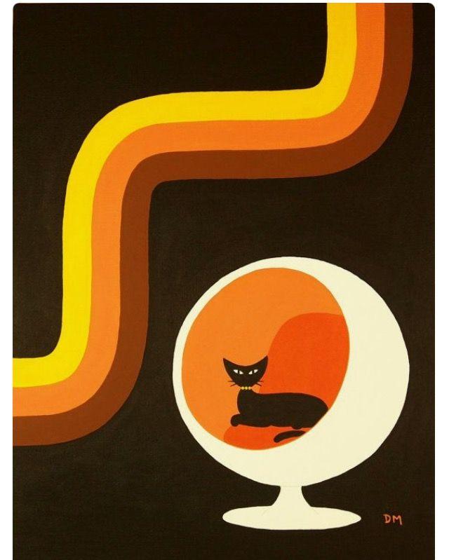 Schöne Muster, Freigeist, Zeichenkunst, Plakate, Katzen, Rund Ums Haus,  Kunst Aus Der Mitte Des Jahrhunderts, Mitte Des Jahrhundert Moderne Kunst,  ...